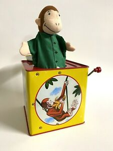 Curious George In The Music Box Classic Tin Metal Toy Schylling