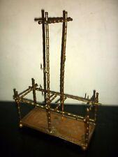 Cabaret à liqueur en laiton fin XIXème vide , modèle bambou art déco  Dlg Adnet