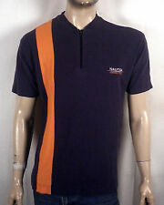 vtg 90s euc Nautica Competition Sailing Zip Collar Shirt colorblock stripe Sz S
