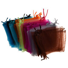 """48 Organza DrawstRing Pouches Gift Bags Assorted Colors 4x5"""" ED"""