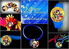 Superhero Girls-24 Party Favors Combo-Toys Birthday Prizes Pinata Pack Loot