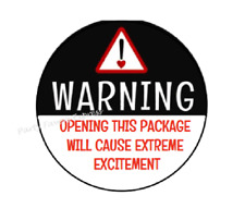 30 OPENING PACKAGE MAY CAUSE EXTREME EXCITEMENT SEALS LABELS STICKERS 1.5