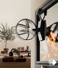 HANSA SIROCCO PLUS Heat Powered CLOSED FIREPLACE FAN Black, 350 m/h, patented
