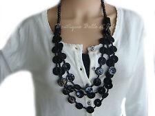 Modeschmuck-Halsketten aus Perlen mit Perlmutt-Hauptstein