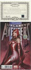 UNCANNY AVENGERS #1 1:75 VARIANT SCARLET WITCH SIGNED STAN LEE  ADI GRANOV W COA