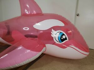 Massive 3-Meter-Long Translucent Pink Inflatable Whale from Inflatable World
