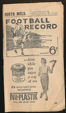 1961 Football Record North Melbourne v Geelong Home & Away June 10 Kangaroos