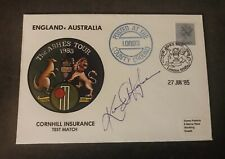 New listing 1985 Ashes Tour FDC Signed By Australian Captain Kim Hughes W/COA