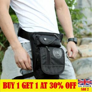Mens  Drop Leg Bag Waist Fanny Pack Belt Hip Bum Military Tactical Outdoor UK
