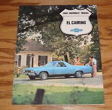 1968 Chevrolet El Camino Foldout Sales Brochure 68 SS 396