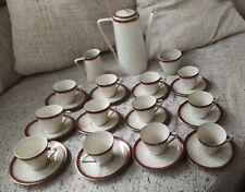 Servizio caffè porcellana Mitterteich Bavaria anni 50/60 12 persone decoro oro