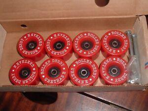 Vintage Roller Derby Premier Wheels RED NOS New In Box Set Of 8 Roller Skates