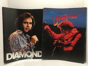 2 Neil Diamond Tour Concert Souvenir Programs Books Photos Band Hard to find