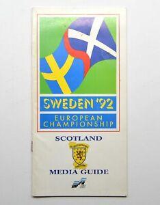 UEFA Sweden 1992 European Championship Scotland Football Media Guide