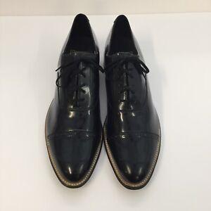 Stacy Adams Mens Black Concorde Patent Leather Formal Trendy Dress Cap Toe Shoe