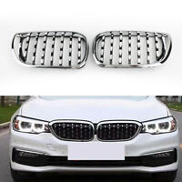 Chrome Diamond Kidney Grill For BMW E46 Saloon/Touring Facelift 2002-2005 4Dr