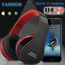 New Wireless Bluetooth Foldable Headset Stereo Headphone Earphone Mic for iPhone