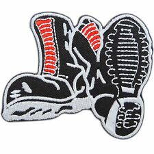 SKINHEAD Shoes Boots Punk Music Biker Tattoo Sew Embroidered Iron on Patch #0445
