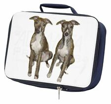 Whippet Dogs Navy Insulated School Lunch Box Bag, AD-WH91LBN