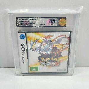 VGA GRADED 85+ NM GOLD Pokemon White Version 2 Nintendo DS Game AUS (SEALED)