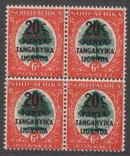 Kenya Uganda & Tanganika  20c on 6d 2 pair of bilingual stamp SG153  MNH