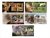 DOMESTIC CATS CAT 11 SOUVENIR SHEETS MNH IMPERFORATED PART 1