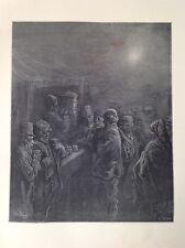 Gustave Dore 1872 Antiguo De Impresión, Café Establo-temprano en la mañana, Londres, Inglaterra