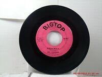 DEL SHANNON -(45)- RUNAWAY / JODY - BIGTOP RECORDS  -  45 - 3067 - 1961