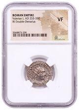AD 253-260 Roman Empire Billon Double-Denarius of Valerian I NGC VF SKU56212