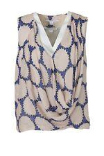 DIANE von FURSTENBERG DVF Rina Draped Circles Silk Chiffon Blouse Top Sz 0 $265