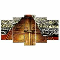Kaaba Door Mecca Islam Mosque 5 panel canvas Wall Art Home Decor Print Poster