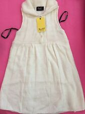 New Girls Children kids Bardot Junior Knitted Cream White Vest Sleeveless Dress