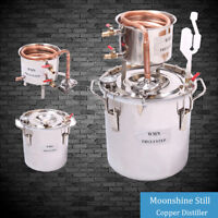 10~100L DIY Home Copper Distiller Moonshine Still Water Alcohol Whisky Brewing