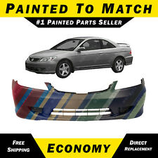 NEW Painted to Match - Front Bumper Cover For 2004 2005 Honda Civic Sedan Coupe
