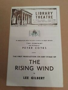 LIBRARY THEATRE MANCHESTER * THE RISING WIND * 1949 ORIGINAL PROGRAMME