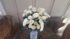 Artificial White Faux Roses Wedding SIlk Centerpiece Bouquet 156 Blooms