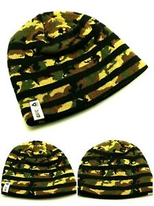 UFC Reebok MMA Octagon Fight Camouflage Black Camo Knit Toque Beanie Hat Cap