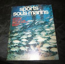 Etudes Et Sports Sous-Marins N° 33 la plongée marine