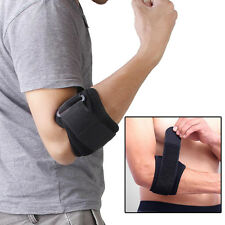 Tennis Golf Elbow Support Brace Strap Band Forearm Protection Tendon Pads Black