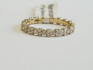Special Offer !!!  1.00ct  Designer Round Diamond Full  Eternity in Yellow Gold