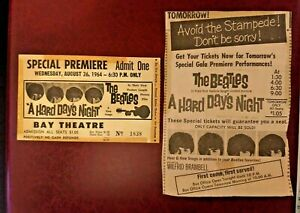 Originals Beetles ticket for 'A hard days night' Premiere + cutting