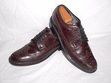 Men's Sears VTG Burgundy Leather Dress Wingtips Shoes Size 9 M