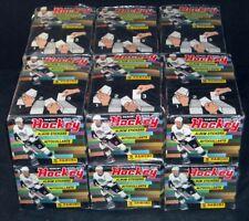 Lot of 12 ^ 1990-91 Panini Hockey Sticker Boxes