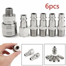6x 1/4 BSP Euro Air Line Hose Compressor Fitting Connector Quick Release Coupler