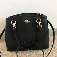 NWT COACH F57847 Crossgrain Leather Minetta Handbag/Crossbody /Satchel Black
