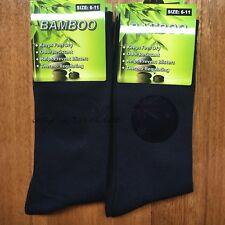 6 Pairs SIZE 6-11 95% BAMBOO SOCKS Men's Premium Work/School Socks Comfort Navy