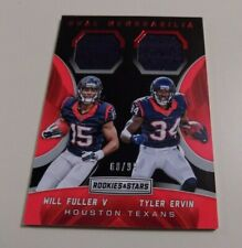 2016 PANINI ROOKIE AND STARS DUAL MEMORABILIA #21 WILL FULLER/TYLER ERVIN JERSEY