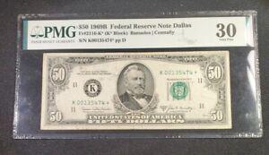 1969-B $50 Dallas Texas - FR#2116-K* - STAR NOTE PMG VF 30 - K00135474* Pp D