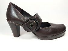 Clarks brown leather Mid Heel Shoes Uk Uk 6 Eu 39