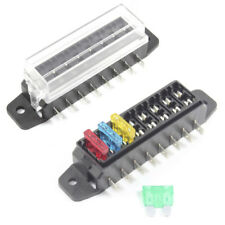 Fuse Box 8 Way for Standard Blade Fuses ATO Holder / Block 12v or 24v Car / HGV